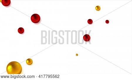 Abstract background with red and orange beads