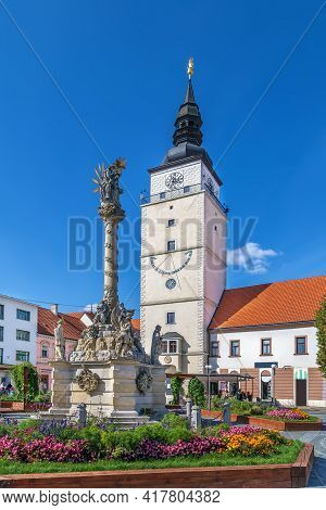 City Tower Is One Of The Most Important Historic Monuments Of Trnava, Slovakia