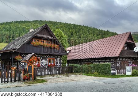 First Folk Architecture Reserve In The World In Cicmany, Slovakia