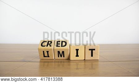 Credit Limit Symbol. Turned Wooden Cubes And Changed The Word 'limit' To 'credit'. Beautiful Wooden
