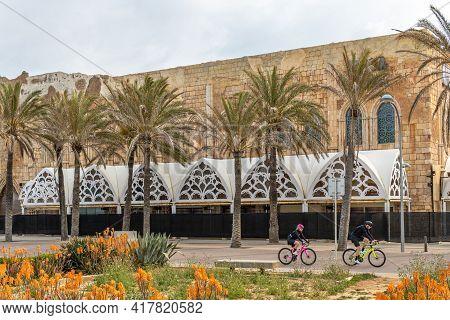 Playa De Palma, Spain; April 20 2021: Megapark In Playa De Palma, On The Island Of Mallorca, Closed