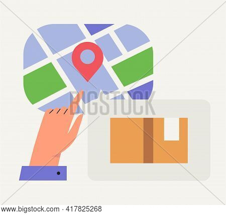 Online Delivery Service Concept. Perfect For Landing Page, Website, Banner, Application, Poster. Ord