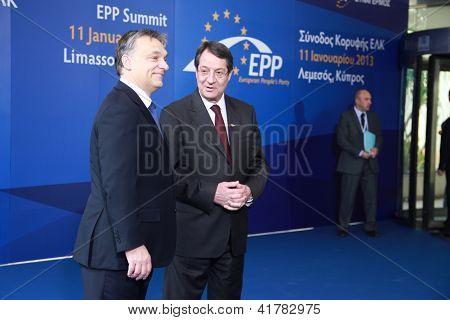 Viktor Orban and Nicos Anastasiades