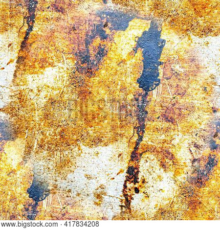 Old Rough Dirty Texture. Graphic Retro Dust Surface. Paint Brush Structure. Abstract Stone Backgroun