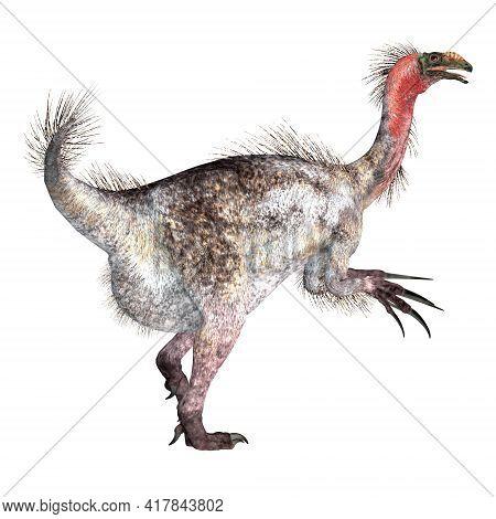 Therizinosaurus Dinosaur Tail 3d Illustration - Therizinosaurus Was A Theropod Carnivorous Dinosaur