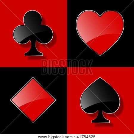 Glass poker. Vector illustration. Eps10