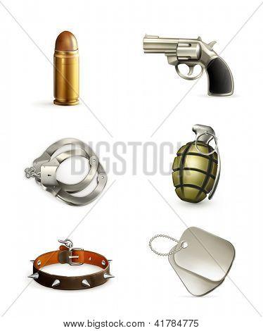 Arms, vector icon set
