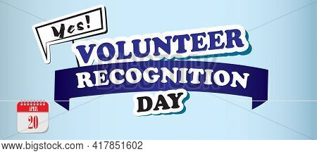 Card For Event April Day Volunteer Recognition Day