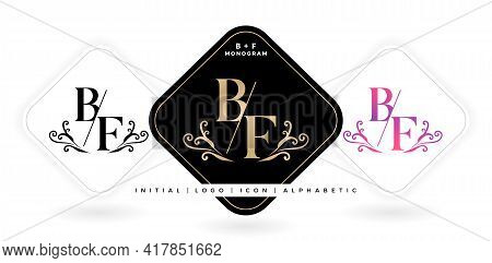Bf Initial Letter And Graphic Name, B And F Monogram, For Wedding Couple Symbolic, Logo Company And
