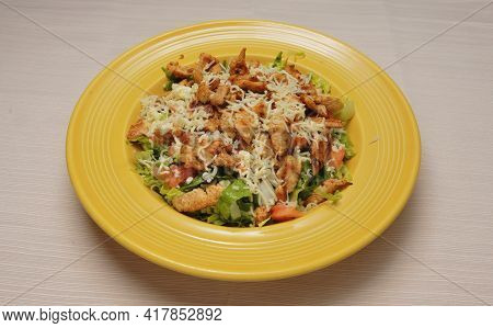 Delicious And Delectable Dish Known As A Grilled Chicken Salad