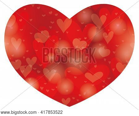 Valentine's Day And Bridal Vector Abstract Heart-shape Background. Easy To Use Illustration Isolated