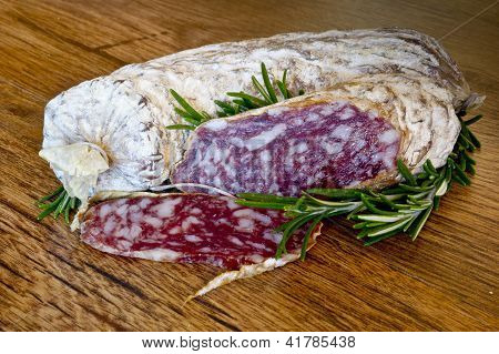 Slices Of Salami From Italy