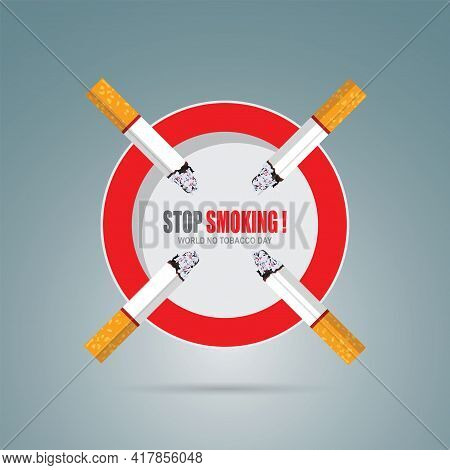 May 31st World No Tobacco Day. No Smoking Day Awareness. Poison Of Cigarette. Vector. Illustration