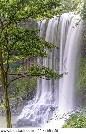 Dambri Waterfall Has A Height Of 57 And A Width Of 30 Meters. The Average Amount Of Water Is 2830mm.