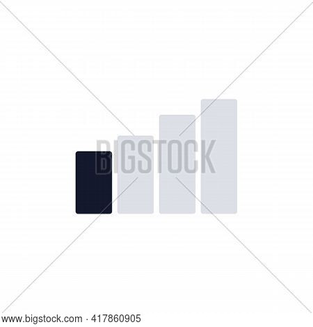 Signal Strength Indicator Flat Icon, Mobile Network Signal Vector Sign, Colorful Pictogram Isolated