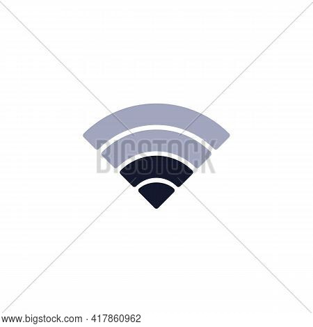 Mobile Phone Wifi Signal Flat Icon, Wi-fi Signal Strength Vector Sign, Colorful Pictogram Isolated O