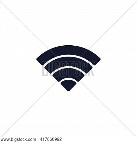 Full Wifi Signal Flat Icon, Mobile Phone Network Signal Vector Sign, Colorful Pictogram Isolated On