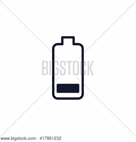 Low Battery Level Flat Icon, Battery Charge Level Vector Sign, Colorful Pictogram Isolated On White.
