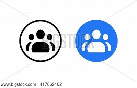 Group Icon Vector Of Social Media. People, Businessman, Forum Symbol Images
