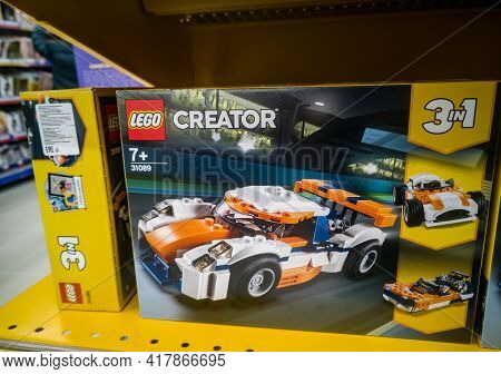 Construction Set Lego Creator Racing Car Orange 31089 In The Hypermarket For Sale On 11.04. 2021 In