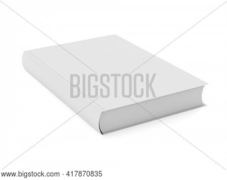 book on white background. Isolated 3D illustration