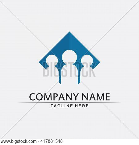 Community Logo People Work Team And Business Vector Logo And Design Group Family
