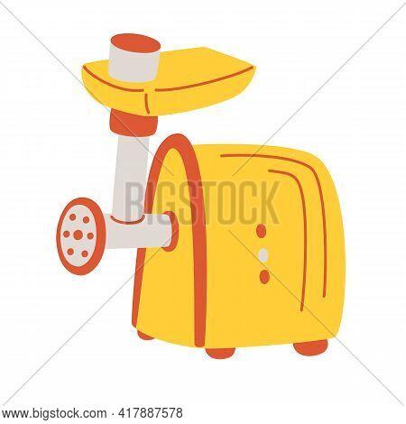 Kitchen Meat Grinder Icon. Maker Concept, Household Equipment, Home Kitchen Appliance Chopper. Simpl