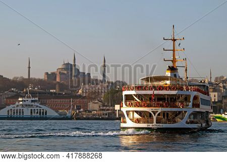 Istanbul,turkey- April 22,2021. The Dream City Between The Continents Of Europe And Asia. Istanbul I