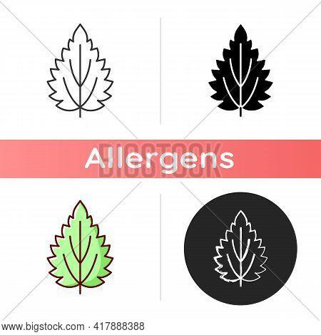 Nettle Icon. Alternative Medicine. Herbal Ingredient For Homeopathy. Common Toxic Allergen. Seasonal