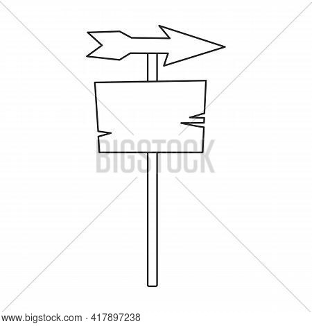 Wood Post Vector Icon.outline Vector Icon Isolated On White Background Wood Post.