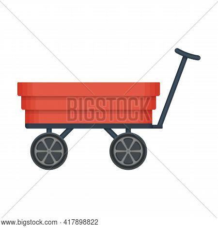 Garden Wagon Cartoon Vector Icon.cartoon Vector Illustration Wheelbarrow. Isolated Illustration Of G