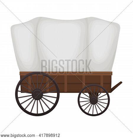 Wild West Wagon Cartoon Vector Icon.cartoon Vector Illustration Old Carriage. Isolated Illustration