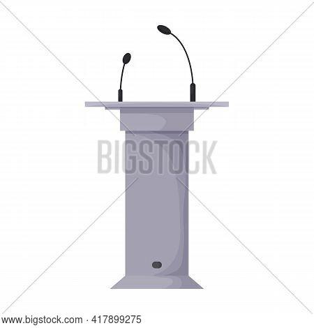 Tribunal Podium Cartoon Vector Icon.cartoon Vector Illustration Podium Conference. Isolated Illustra