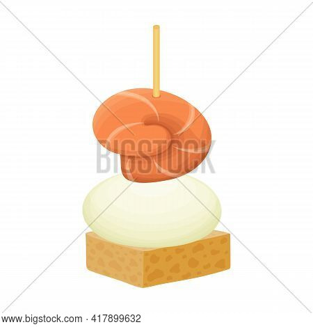 Canape And Food Cartoon Vector Icon.cartoon Vector Illustration Food And Appetizer. Isolated Illustr