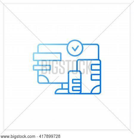 Cross Platform Design Gradient Icon. Website Design. Icons, Appearance, Labels.creating On Laptop. D