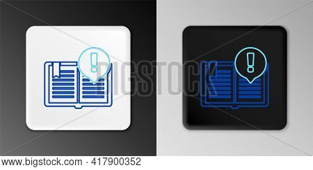 Line Interesting Facts Icon Isolated On Grey Background. Book Or Article Sign. Exclamation Mark Sign