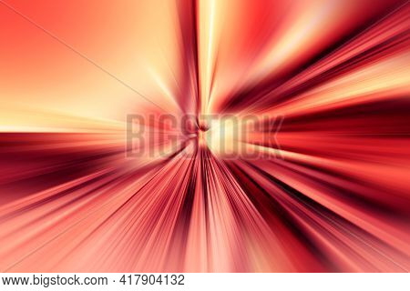Abstract Radial Zoom Blur Surface Of Red, Pink And Yellow Tones. Abstract   Pink And Yellow Backgrou