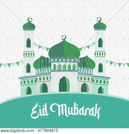 Eid Mubarak Wishes Card Design Easy To Edit And Resizable