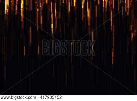 Vector Glitch On A Black Background. Abstract Texture.