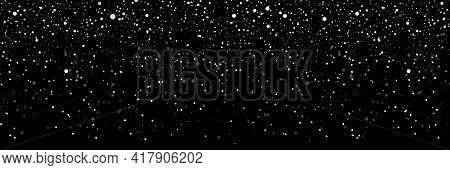 Falling Snow On A Transparent Background. Snow. Snowfall, Snowflakes In Different Shapes And Forms.