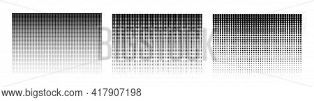 Halftone Gradient. Dotted Background. Set Of Halftone Backgrounds. Vector Illustration