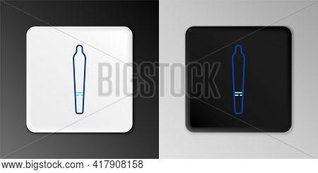 Line Marijuana Joint, Spliff Icon Isolated On Grey Background. Cigarette With Drug, Marijuana Cigare