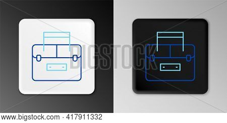 Line Case Or Box Container For Wobbler And Gear Fishing Equipment Icon Isolated On Grey Background.