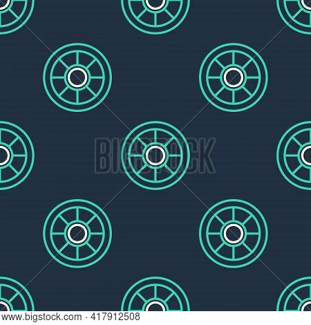 Line Safe Icon Isolated Seamless Pattern On Black Background. The Door Safe A Bank Vault With A Comb