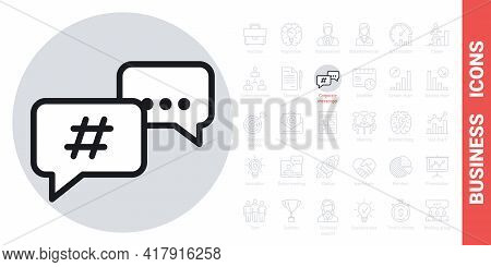 Team Chat Or Corporate Messenger Icon. Simple Black And White Version From A Series Of Business Icon