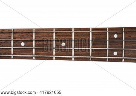 Metallic Volume Treble Guitar Bass Knobs. Electric Guitar. Red Electric Bass Guitar Close-up. Musica