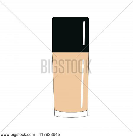 Decorative Cosmetics, Tonal Basis For Facial Tone Correction, Vector Isolated Object On A White Back