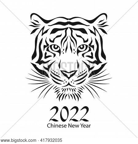 Year Of The Tiger 2022, Chinese New Year, Symbol Tiger, Vector Illustration.