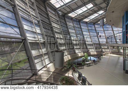 December 02 2018 Social Center Cenforpe In São Bernardo Do Campo Sp Brazil. Big Empty Lobby With Nic