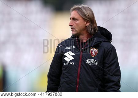 Torino, Italy. 18th April 2021. Davide Nicola Of Torino Fc  During The Serie A Match Between Torino